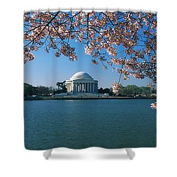 Monument At The Waterfront, Jefferson Shower Curtain by Panoramic Images