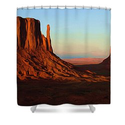 Monument Valley 2 Shower Curtain by Ayse Deniz