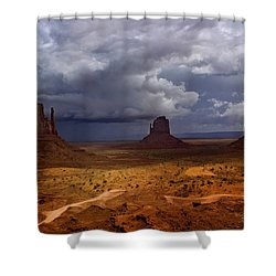 Monuments Of The West Shower Curtain by Ellen Heaverlo