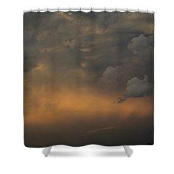 Moody Storm Sky Over Lake Ontario In Toronto Shower Curtain by Georgia Mizuleva