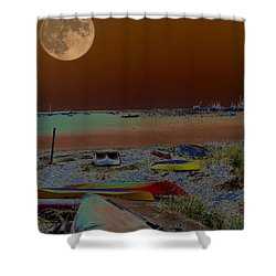 Moon Dreams Shower Curtain by Robert McCubbin