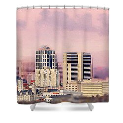 Moon Over Nashville Shower Curtain by Amy Tyler