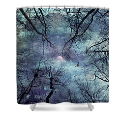 Moonlight Shower Curtain by Stelios Kleanthous