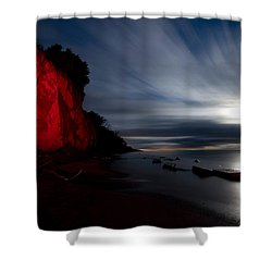 Moonrise At Clearville Beach Shower Curtain by Cale Best