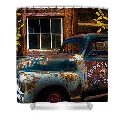 Moonshine Express Shower Curtain by Debra and Dave Vanderlaan
