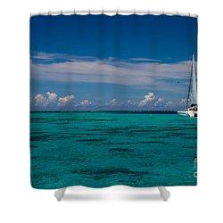 Moorea Lagoon No 16 Shower Curtain by David Smith