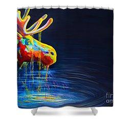 Moose Drool   Shower Curtain by Teshia Art