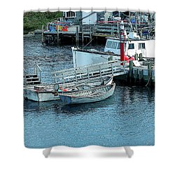 More Boats Shower Curtain by Kathleen Struckle