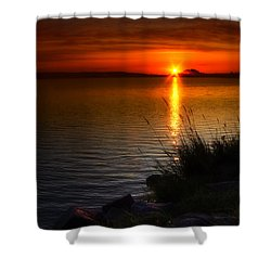 Morning By The Shore Shower Curtain by Veikko Suikkanen