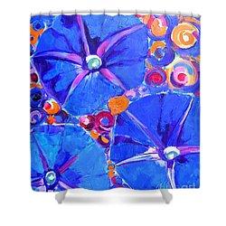 Morning Glory Flowers Shower Curtain by Ana Maria Edulescu