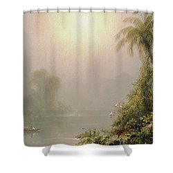 Morning In The Tropics Shower Curtain by Frederic Edwin Church