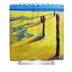 Morning Sun At The Beach Shower Curtain by Patricia Awapara