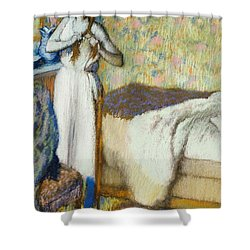 Morning Toilet Shower Curtain by Edgar Degas