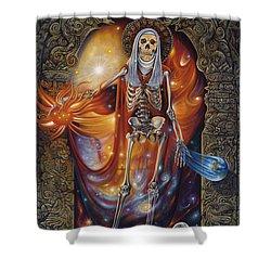 Mors Santi Shower Curtain by Ricardo Chavez-Mendez