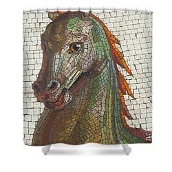 Mosaic Horse Shower Curtain by Marcia Socolik