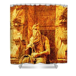 Moses Shower Curtain by Stefano Senise
