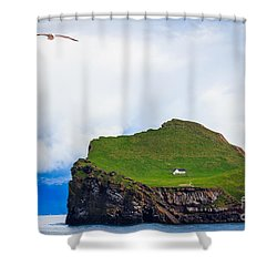 Most Peaceful House In The World Shower Curtain by Peta Thames