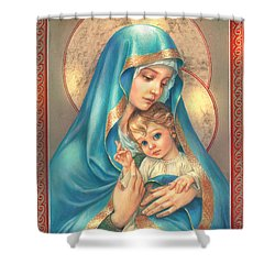 Mother Of God Shower Curtain by Zorina Baldescu