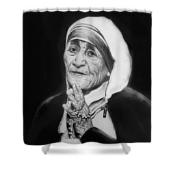 Mother Teresa Shower Curtain by Anthony Falbo