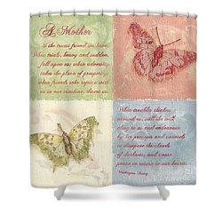 Mothers Day Butterfly Shower Curtain by Debbie DeWitt