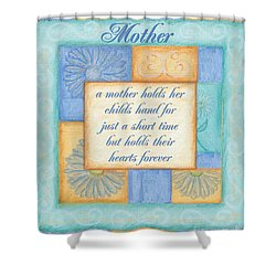 Mother's Day Spa Card Shower Curtain by Debbie DeWitt