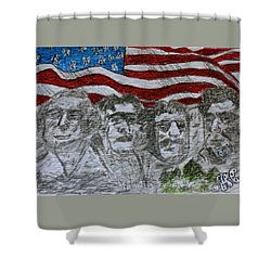 Mount Rushmore Shower Curtain by Kathy Marrs Chandler