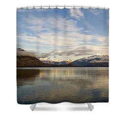 Mountain Dawn Shower Curtain by Tim Hester