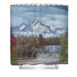 Mountain Dreams Shower Curtain by Dawn Nickel