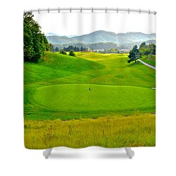Mountain Golf Shower Curtain by Frozen in Time Fine Art Photography