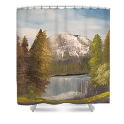 Mountain View Shower Curtain by Dawn Nickel