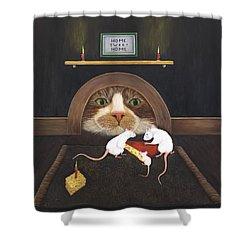 Mouse House Shower Curtain by Karen Zuk Rosenblatt