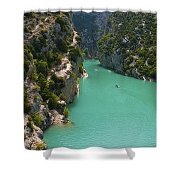 Mouth Of The Verdon River  Shower Curtain by Bob Phillips