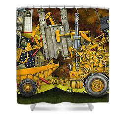 Moving Home Shower Curtain by Colin Thompson