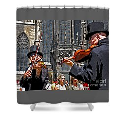 Mozart In Masquerade Shower Curtain by Ann Horn