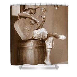 Mr. Bojangles Shower Curtain by Karen Wiles