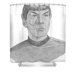 Mr. Spock Shower Curtain by Thomas J Herring