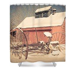 Mt. Cube Farm Old Sugar Shack Shower Curtain by Edward Fielding