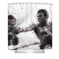 Muhammad Ali Vs Joe Frazier Shower Curtain by Daniel Hagerman