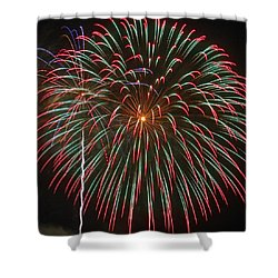 4th Of July Fireworks 16 Shower Curtain by Howard Tenke