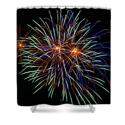 4th Of July Fireworks 22 Shower Curtain by Howard Tenke