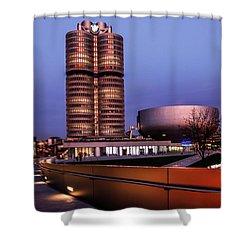 munich - BMW office - vintage Shower Curtain by Hannes Cmarits