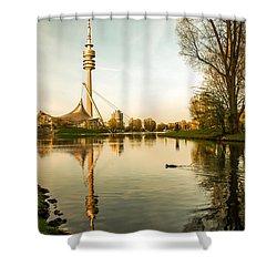 Munich - Olympiapark - Vintage Shower Curtain by Hannes Cmarits