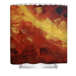 Muse In The Fire 1 Shower Curtain by Sharon Cummings