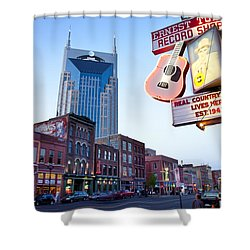 Music City Usa Shower Curtain by Brian Jannsen