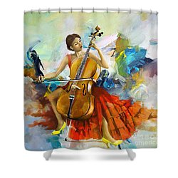Music Colors And Beauty Shower Curtain by Corporate Art Task Force