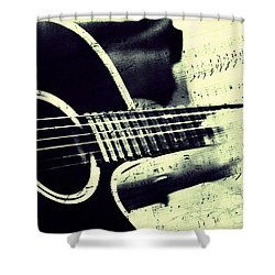 Music From The Heart II Shower Curtain by Jenny Rainbow