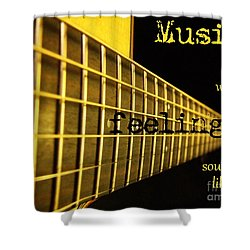 Music Is Shower Curtain by Andrea Anderegg