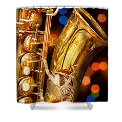 Music - Sax - Very Saxxy Shower Curtain by Mike Savad