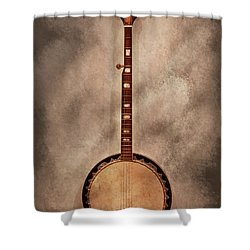 Music - String - Banjo  Shower Curtain by Mike Savad
