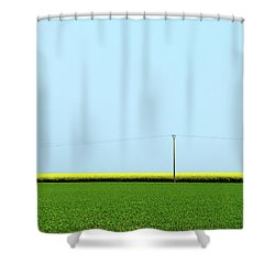 Mustard Sandwich Shower Curtain by Dave Bowman